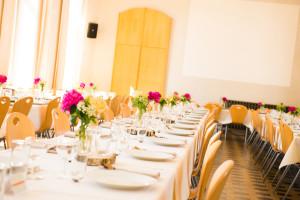 Grande salle déco table mariage